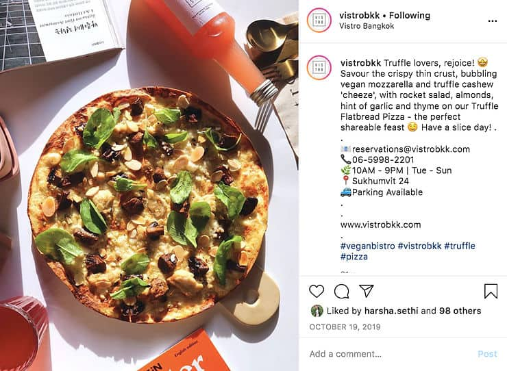 Bangkok's First 100% Plant Based Pizzeria Set To Open