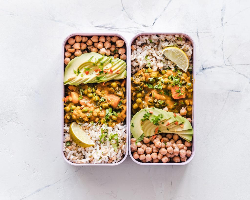 Vegan packed lunch