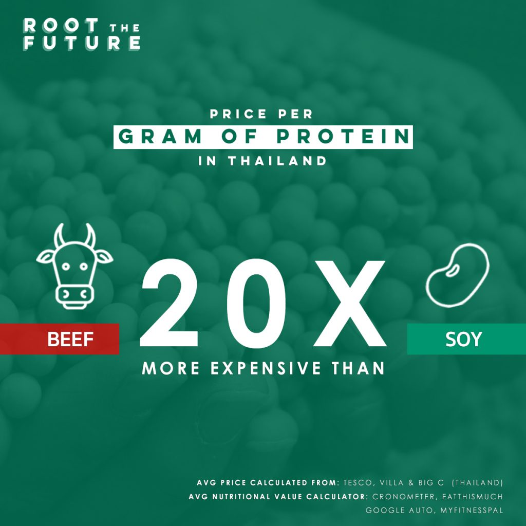 Price of plant protein