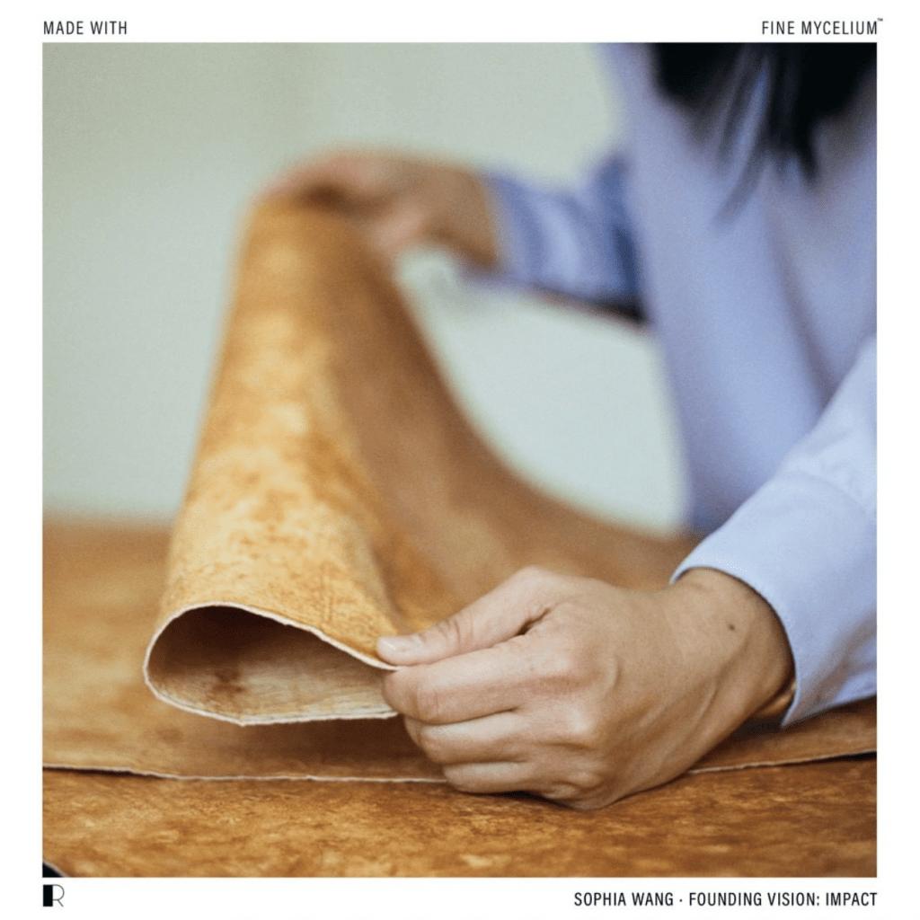 Mushroom leather