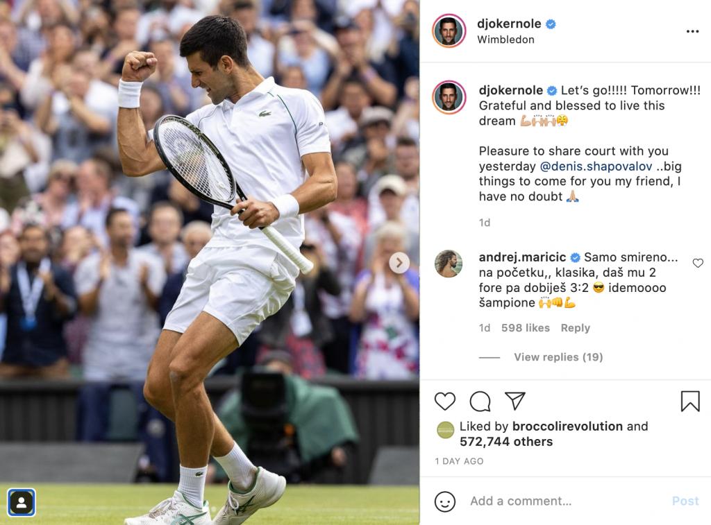 Djokovic Wins Wimbledon