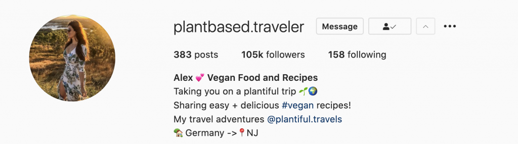 Plant Based Recipes Instagrams